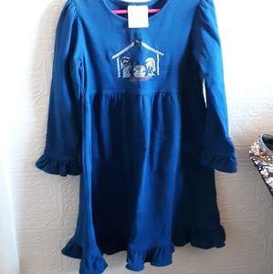 A navy blue nativity theme dress/size 6